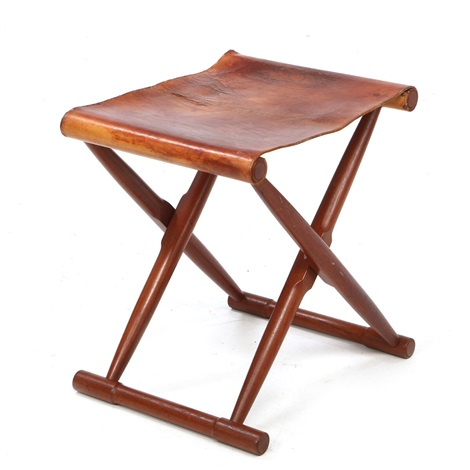 Folding Teak Stool By Peter Hvidt