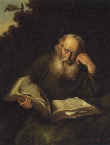 Old man reading a book by Joseph Malachy Kavanagh on artnet