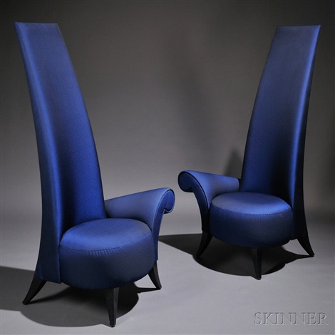 La Diva High Back Lounge Chairs 2 Works By Jaime Bouzaglo