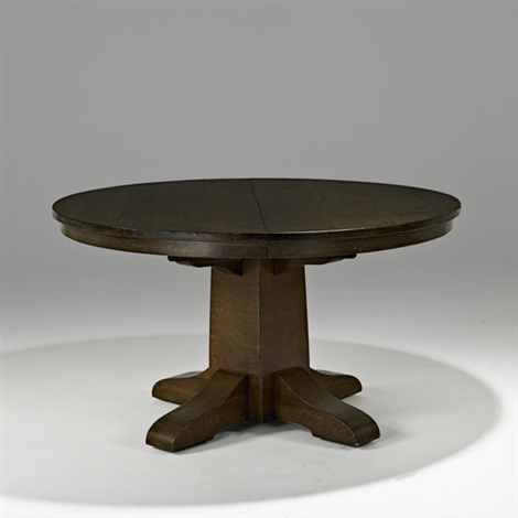 Round Dining Table No 656 By Gustav Stickley