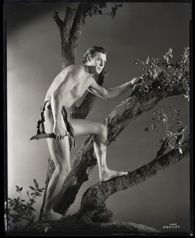 Secuencias & Fotogramas en B & N - Página 7 George-hurrell-johnny-weissmuller-camera-negative-(from-tarzan-escapes)