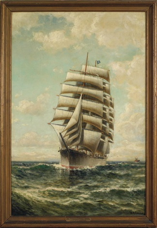 The ship William P. Frye by William Alexander Coulter on artnet
