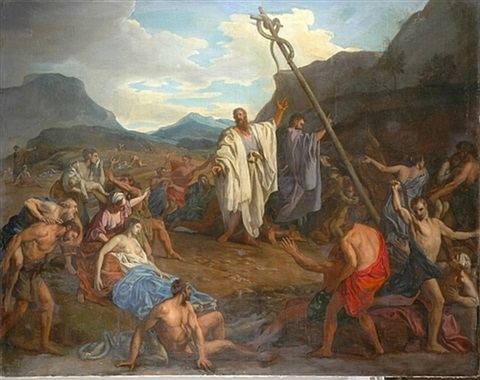 Moses and the Brazen Serpent by Charles le Brun on artnet