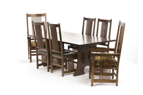 A Stickley Craftsman Dining Table Chairs By Brothers Company