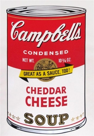 andy warhol cheddar cheese soup campbell's soup screenprint