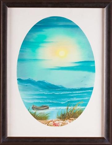 Row Boat On The Beach By Bob Ross Artnet