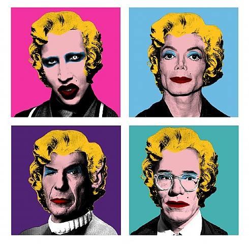 Warhol Wig Series Manson Michael Jackson Spock Andy By Mr Brainwash On Artnet