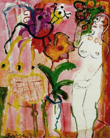 Hans Truyen, Nude with flowers