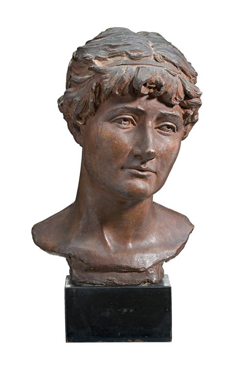 Sir Edgar Bertram Mackennal, Head of a woman (Mary Anderson)