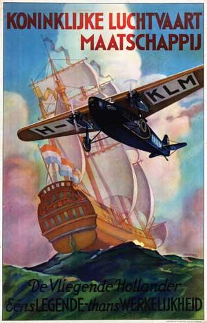 Jan Wijga, KLM De Vliegende Hollander